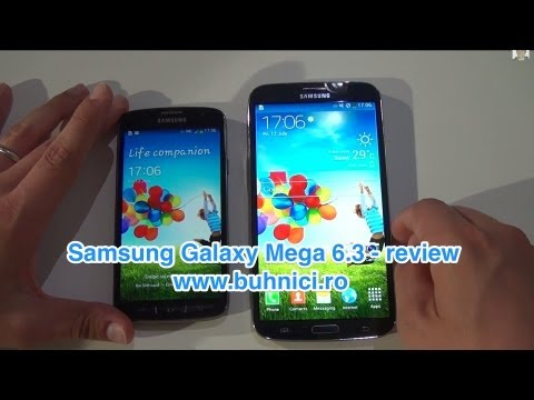 Samsung Galaxy Mega 6.3 vs S4 Active & review (www.buhnici.ro)