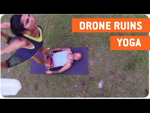 Drone Crashes Yoga Group | Downward Drone
