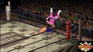 FPWW video game: Tiger Mask (Satoru Sayama) vs. Bret Hart [Free Cam view]