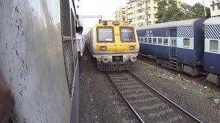 Dadar To Kurla on Mumbai Local Fast Train Footboard - Full Length Video