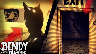 HACKING INTO HUGE SECRET ROOM & BEHIND BENDY | Bendy and the Ink Machine [Oldest version]