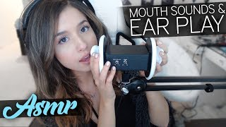 ASMR Mouth Sounds & Ear Play :)