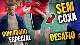 DESAFIO DO 2 SEM COXA! - DESAFIO DE FUTEBOL feat. Brazil Kickers
