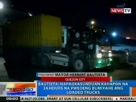 NTG: Panayam kay Mayor Bautista kaugnay pa rin sa isyu ng Manila daytime truck ban