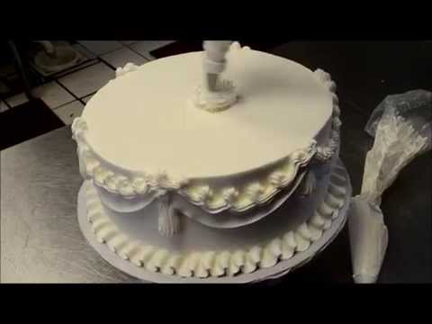 Easy Wedding Cake making with Roses tip and French Star tip in 5 min