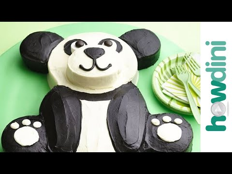 How to make a panda cake - Panda bear birthday cake