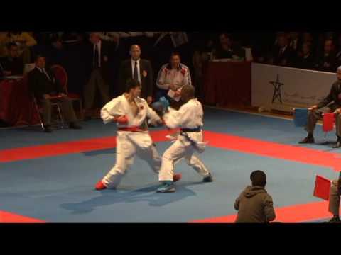 2009 WKF Jr Worlds -21 Men -78 Kg Aka China vs Ao France