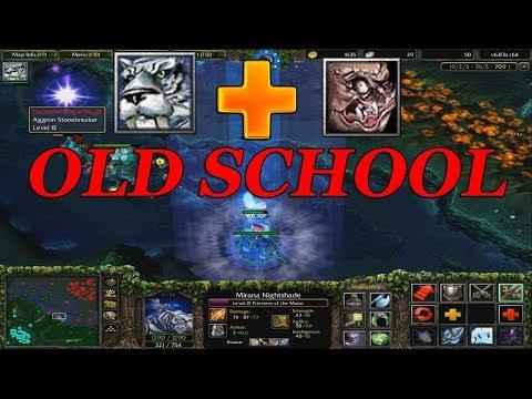 DOTA 1 - MIRANA + PUDGE OLD SCHOOL!