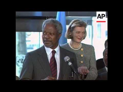USA - Kofi Annan arrives back in New York