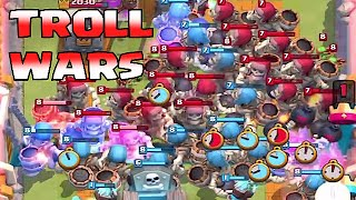 Clash Royale - 35x GIANT SKELETON WAR!! (Giant skeleton Troll wars) Tombstone troll!