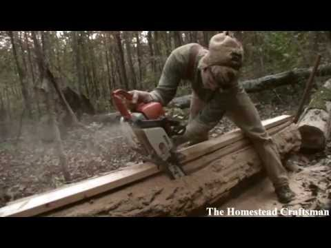 Cutting Lumber With A Chainsaw - Reclaiming Fallen Trees video