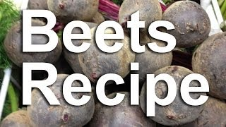 How to Preserve & Can Beets,  Pickled Beets Recipe GardenFork.TV