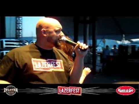 Five Finger Death Punch intro&Troop Salute at LAZERfest 2012
