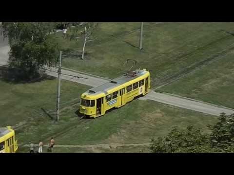 Подъем трамвая после схода на рельсы