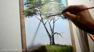 """How to Paint a Tree"" Time-Lapse Acrylic Painting Demonstration by JMLisondra"