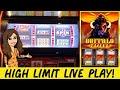BUFFALO INFERNO High Limit Slot Machine * $15 Max Bet * Nice Wins! Deadwood, SD