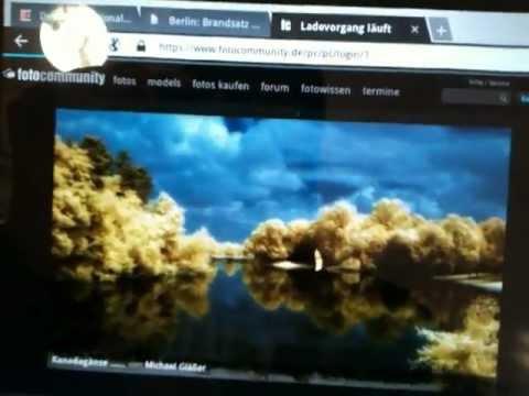 fotocommunity.de auf dem Samsung Galaxy Tab