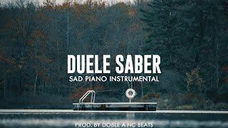 Duele Saber - Beat Instrumental Rap Piano Melancolico | Base De Rap x Hip Hop [VENDIDO JHOBICK]
