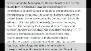 Cerberus Capital Management, L.P Corporate Office Contact Information