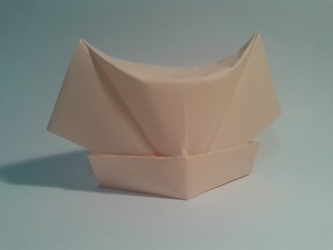 Origami para principiantes: #5 Como hacer un gorro de enfermera de papel  facil
