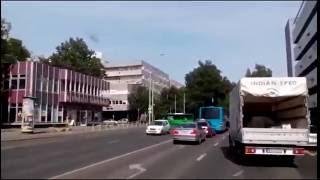 Hungary:Buses in Pecs (long video)