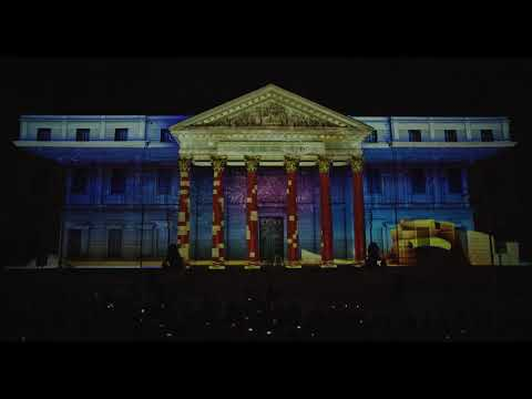 Espectacular 'video mapping' da vida al Congreso de los Diputados