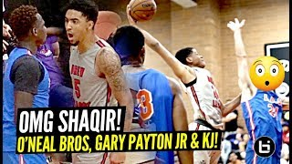 Sons of Shaquille O'Neal, Gary Payton and Kenyon Martin TEAM UP!! Shaqir BOUNCE Looking CRAZY!