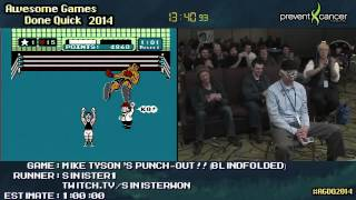 Mike Tyson's Punch-Out!! Blindfolded run Live by Sinister1 (0:38:00) [NES] #AGDQ 2014
