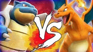 Pokken Tournament DX Blastoise vs Charizard (Nintendo Switch)