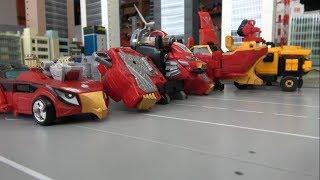 파워레인저 갤럭시포스 캡틴포스 닌자포스 엔진포스 로봇 변신! Power Rangers Kyuranger Ninja Steel Super Megaforce RPM robot!