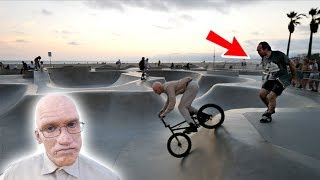 *OLD MAN RIDING A BMX* ALMOST GOT INTO A FIGHT!