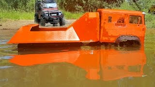 RC Extreme Pictures – RC Truck Stuck Beast 6x6 Helps Stuck In The Mud Land Rover Defender - Part Two