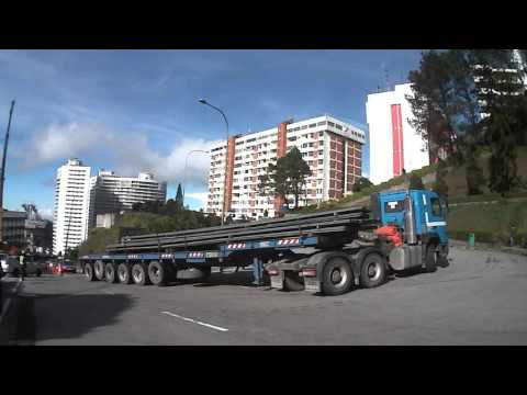 VOLVO FMX I-Shift taking a tight turn at GENTING HILANDS, MALAYSIA. 1