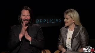 REPLICAS Cast Interview (2019) | Keanu Reeves, Alice Eve, John Ortiz