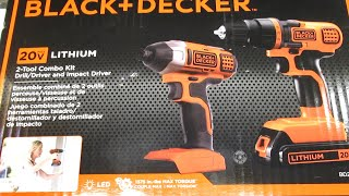 Unboxing: Black & Decker BD2KITCDDI 20V MAX Drill/Driver Impact Combo Kit
