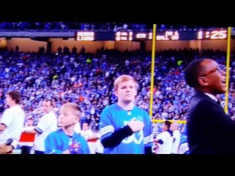 Quintavious Johnson sings national anthem