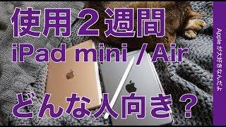 2019新型iPad 2機種2週間使用・Air第3世代とmini第5世代はどんな人向き?
