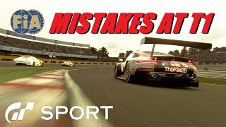 GT Sport Mistakes At T1- Driving Safe FIA Final Round