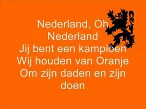André Hazes - Wij houden van oranje (SONGTEKST)