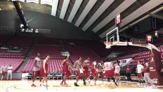 Inside Alabama basketball practice in hyper speed