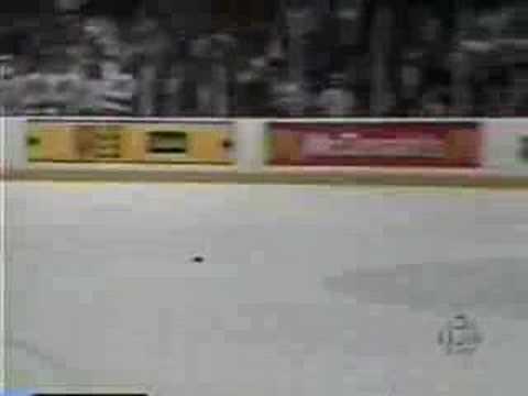 Martin Brodeur scores a goal NHL New Jersey Devils goalie