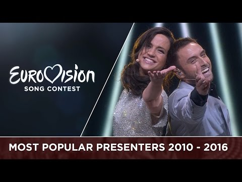 Most popular presenters from 2010 - 2016: Petra Mede and Måns Zelmerlöw
