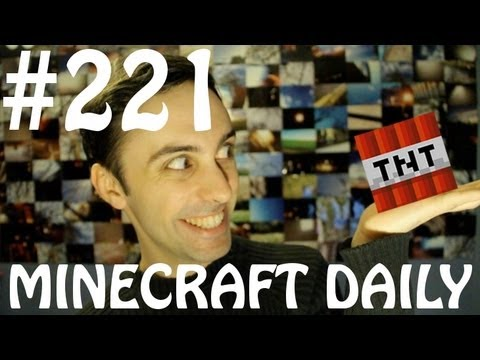 Minecraft Daily 28/03/12 (221) - Redstone Escalator! Snakes & Ladders! Bonemeal story & Portals!