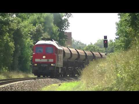 BR 232 529-8 mit fetten Kolomna Sound und schwerer Guterzug bei Tantow [HD]