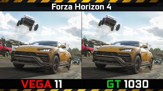 Forza Horizon 4: Vega 11 vs GT 1030 (Updated) Ryzen 5 2400G