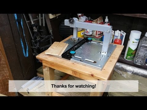 Home Made DIY Jigsaw Table with Blade Guide
