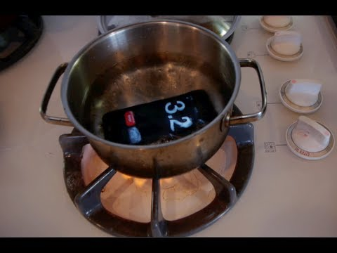 iPhone 5 Boiling Hot Water Drop Test - Will it Survive?