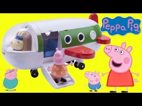 PEPPA PIG's Holiday Plane Playset! Traveling & Toy Hunting