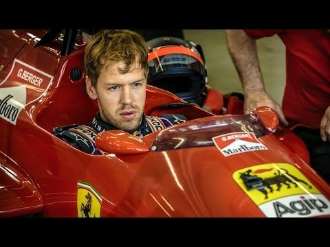 Sebastian Vettel and Gerhard Berger at Red Bull Ring 2014