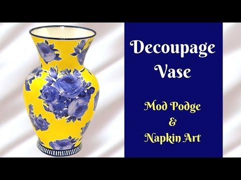 DIY Decoupage Vase | How To Tutorial